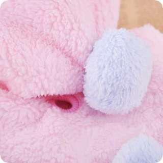 PINK LOVE HEART WARM FLEECE DOG Clothes with snacks BAG PET COAT XS,S