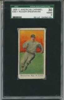 1909 E90 1 American Caramel Roger Bresnahan SGC 30 2