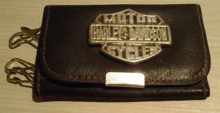 Vintage Harley Davidson Leather KEY HOLDER,Brevet Italy