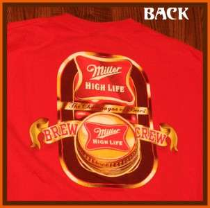 Miller High Life Beer Brewery T Shirt L