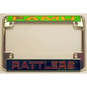 Florida A&M FAMU Rattlers Chrome Motorcycle RV License