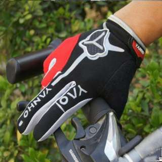 New Red Cycling Bike Bicycle Motorcycle FULL finger gloves Size M   XL