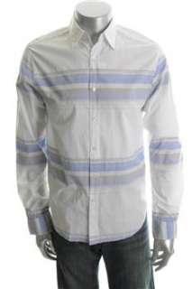 55 Broome NEW Mens Button Down Shirt White BHFO S
