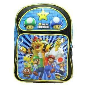 Super Mario Bros 16 Backpack Bowser Luigi Goomba Koopa