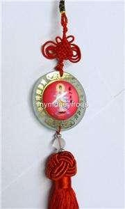 13 Chinese Feng Shui Buddha Buddhist Glass Kwan Yin Car Charm Amulet