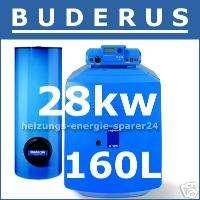Buderus G125 BE ECO Öl Kessel + Speicher 28 kW, 160 Ltr