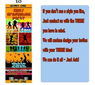 HIGH SCHOOL GRADUATION PARTY Ticket Style Invitations