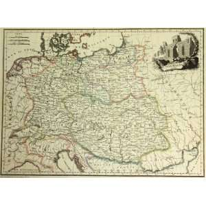 Malte Brun Map of Prussia Austria Allemagne (1812) Office