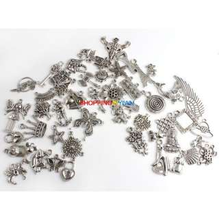 Wholesale 50 Mixed Tibetan Silver Charms Alloy Pendant FREE SHIP G430