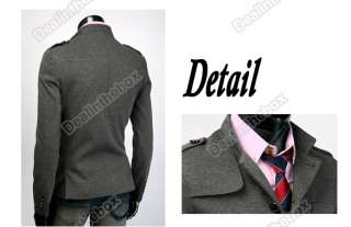 New england fashion warm stand up Collar Slim Fit man overcoat Coat