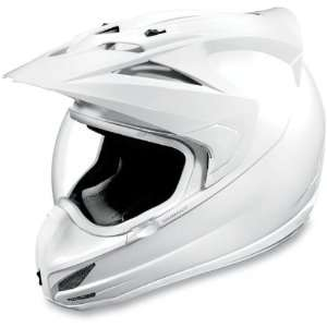 Icon Variant Dual Sport Motorcycle Helmet Solid White