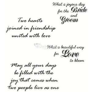 Heartfelt Creations Rubber Stamps   Wedding Sentiment