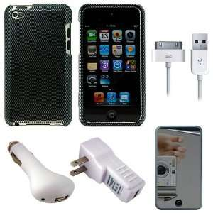 Carbon Fiber Protective Rubberized Crystal Hard Case Cover