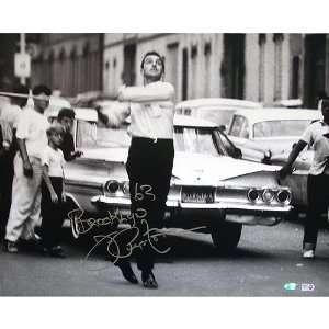 Joe Pepitone Autographed Playing Stickball 16x20