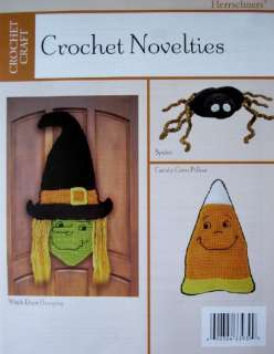 CROCHET NOVELTIES, Halloween Pattern, WITCH, CANDY CORN