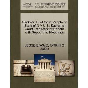 Bankers Trust Co v. People of State of N Y U.S. Supreme Court