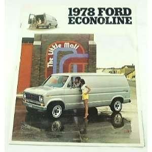 1978 78 Ford ECONOLINE Van BROCHURE E100 E250 E350