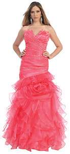 WINTER FORMAL GOWNS LONG EVENING PAGEANT RED CARPET SWEET 16 DRESS