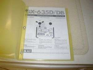 AKAI GX 635D/DB REELTO REEL TAPE DECK OPERATORS MANUAL