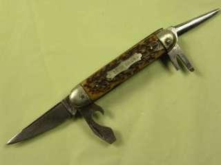 BIECO SOLINGEN GERMANY FOLDING POCKET SCOUT KNIFE BONE