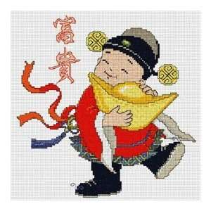 Chinese Blessing Doll   Cross Stitch Kit Arts, Crafts & Sewing