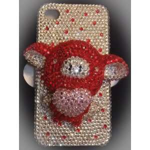 Nice Handmade Crystal 3D Pig Iphone 4/4s Case + Screen