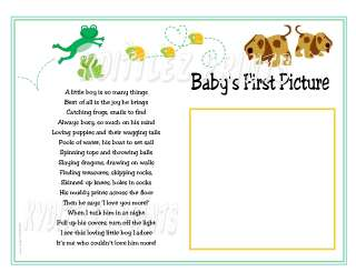 Little Boys Are Frogs Snails Puppy Dog Tails~BABY Ultrasound Poem