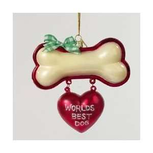 Pack of 8 Bone with Best Friend Heart Christmas