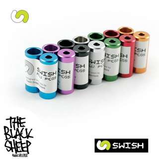 SWISH PRO STUNT SCOOTER PEGS ALL COLOURS MGP GRIT SLAMM
