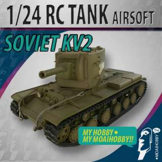 24 Airsoft RC VSTank Soviet Red Army KV 2 Green