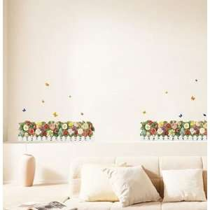 FLOWER GARDEN DECOR MURAL WALL PAPER STICKER SS 58208