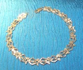 Sterling Silver Christian Fish Link Bracelet 10g