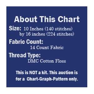 William Morris Summer Medieval Maiden Counted Cross Stitch Chart