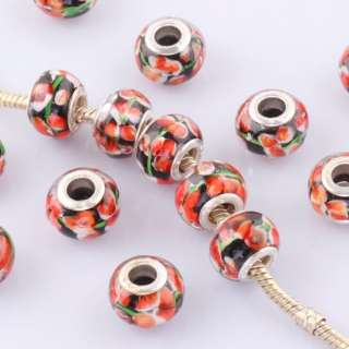 Mix Colour Inlay Crystal European Loose Spacer Disco Ball Charm Beads