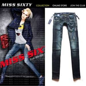 NEW Stunning Slim Zipper MISS SIXTY Ladys Cool Jeans