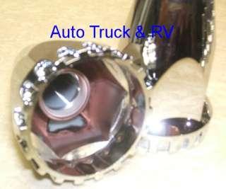 20 Chrome Treaded ABS Lug Nut Covers 33 mm flanged Semi Truck Wheel