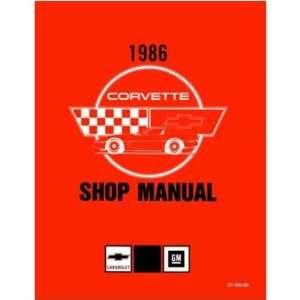 1986 CHEVROLET CORVETTE Shop Service Repair Manual Book Automotive