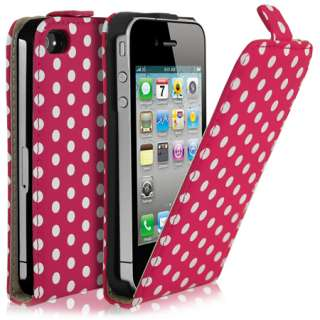 London Magic Store   Polka Dot Flip Leather Case For Apple iPhone 4 4G