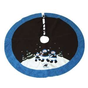 Panthers NFL Snowman Holiday Tree Skirt (48)