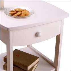 Winsome Basics Solid Wood / Nightstand White End Table 021713102188