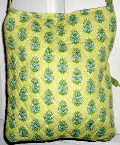 VERA BRADLEY LIME GREEN CITRUS HIPSTER SHOULDER CROSSBODY BAG