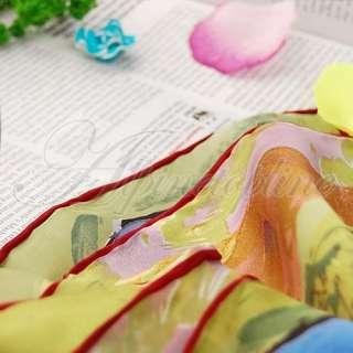 Van Gogh Oil Painting 100% Silk Scarf Shawl Wrap Orange