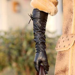 NEW Womens long GENUINE LAMBSKIN soft leather opera Fashion gloves