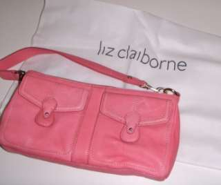 BRAND NEW WITH ORIGINAL TAGS LIZ CLAIBORNE BROADWAY PINK LEATHER