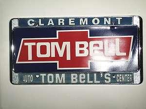 CLAREMONT TOM BELL LICENSE PLATE FRAME+ PLASTIC INSERT