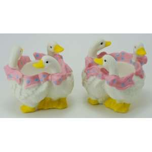 Porcelain Duck Egg Cups Set Of 2: Home & Kitchen