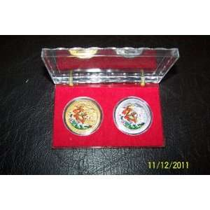 2012 Silver/ Gold Plated 2 Coins Set in Gift Case Everything Else