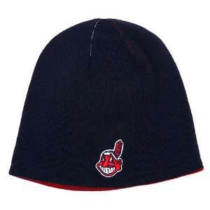 Cleveland Indians Con Air Reversible Knit Cap   Navy/Red