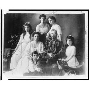 Czar Nicholas of Russia, wife and five children 1920s