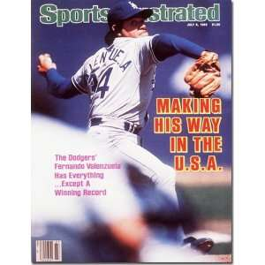 July 8 1985 Fernando Valenzuela Dodgers Sports Illustrated Books